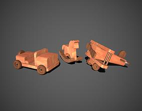 3D asset Wooden Toys