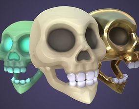 3D model VR / AR ready Villainous Skull