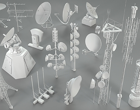 3D model Antennas - 16 pieces