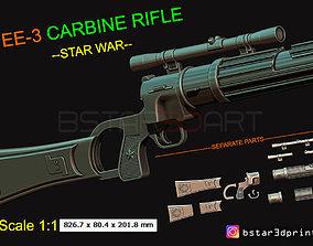 Boba Fett blaster EE 3 - Carbine Rifle - 3D print model 3