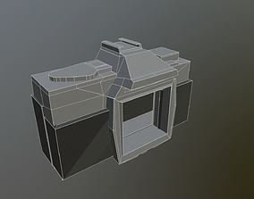 3D model Old Camera ultra low-poly draft sketch