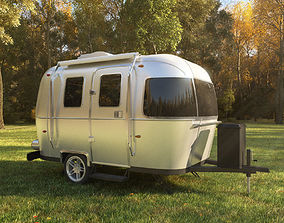 Airstream Sport trailer 2017 3D model