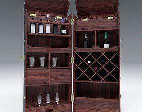 3D Wardrobe Trunk Bar Colonial PBR