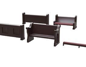 3D model Church Pew Furniture Set