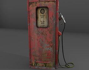 3D Grunge Gas Pump Prop