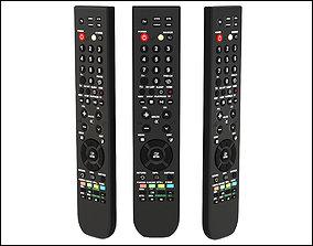 TV remote controller 3D model