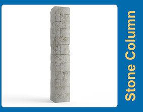 3D asset Stone Column