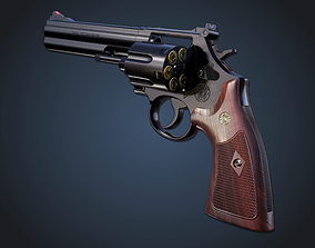 3D asset Smith and wesson 586