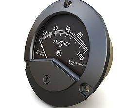 Vintage AC ammeter 17 3D