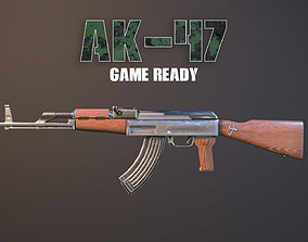 Ak-47 Game Ready 3D asset