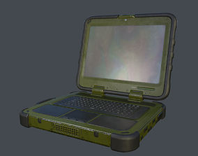 Shielded Military Laptop 3D model
