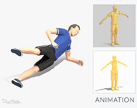 3D asset Side Plank With Leg Raise Exercise Man Animation