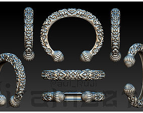 3D printable model Thai Double Lotus Bracelet