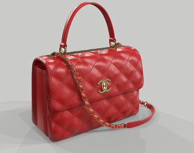 Chanel Small Flap Bag With Top Handle Red 3D model