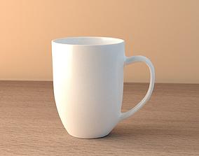 White Mug tableware 3D model
