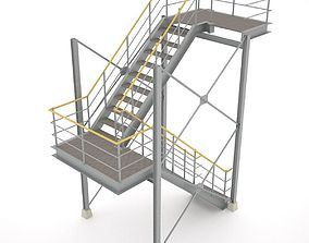 Industrial stairs - 01 3D model