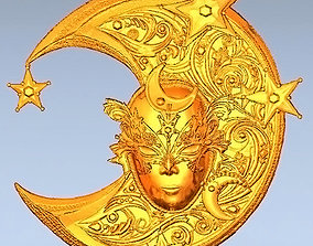 Mask-moon 3D printable model