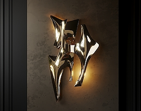 3D Signed Wall Light by Fred Brouard