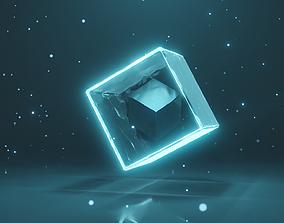 animated 3D Animated Cube inside a Cube
