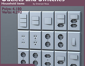 Low-Poly Outlets and Switches 3D model