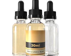 3D model bottle 30ml dropper type2