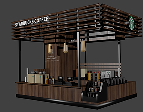 cup Starbucks Coffee I Kiosk Model