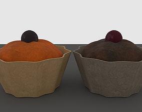 3D asset Muffin Cupcakes