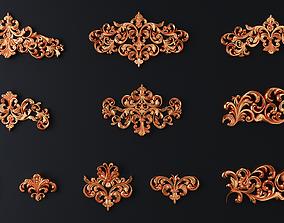 3D model decoration cartouches