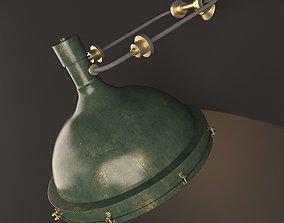 green wall lamp 3D model