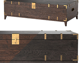 CAYDEN CAMPAIGN RECTANGULAR TRUNK TABLE Dark 3D