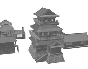 3D print modular Asia or Shogun Castle SET