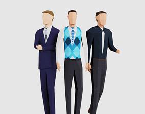 Business Men 3D asset VR / AR ready