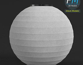 3D Japanese paper lantern 3