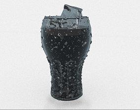 3D Glass of Coca Cola