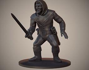 3D print model Human Swordsman Miniature 03