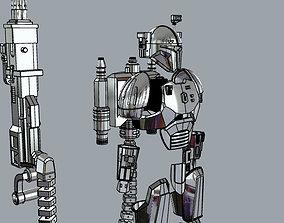 3D printable model FULL Mandalorian heavy infantry armor 4