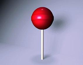 red lollipop 3D model