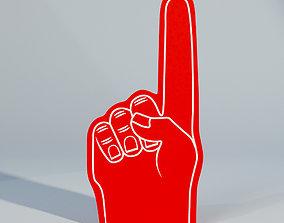 Sample Fan Foam Finger 3D asset