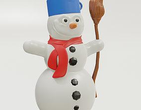 3D printable model Snowman figurine