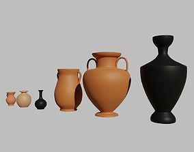 Greek vases collection - 3 Aryballos and 3 3D model