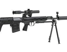 3D model Dragunov SVU military