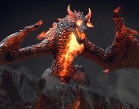 Fire Dragon Fantasy Creature 3D