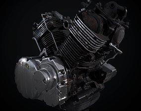 Yamaha XVS 1100 motorcycle engine 3D model