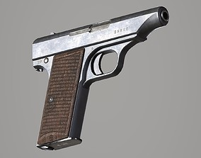 3D asset Hamada Type Japanese Pistol