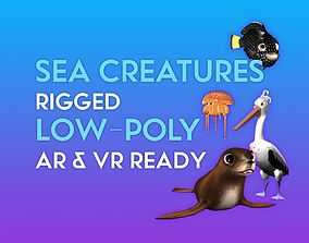 rigged 3D Cartoon Sea Creature Pack