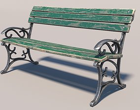 Bench 3D model street architectural