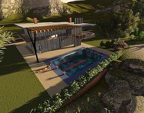 villa 3D printable model structures