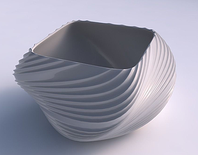 Bowl helix with flowing extruded lines 3D print model