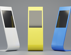 Sample Model of terminal information kiosk VR / AR ready 1