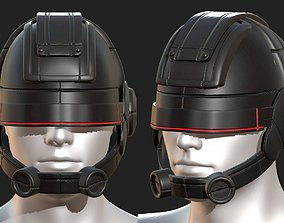 Helmet scifi fantasy futuristic military 3D asset